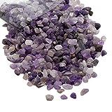 Amethyst Crushed Quartz Chips Stone Pieces, Natural Healing Reiki Crystal Polished Gemstones for Jewelry Making, Home Decoration, Vase Filler, DIY Crafts – 1 LB Bulk