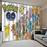 Cordiality Niedliche Pokémon Go Design 3D Print Vorhang Für Haus (H)