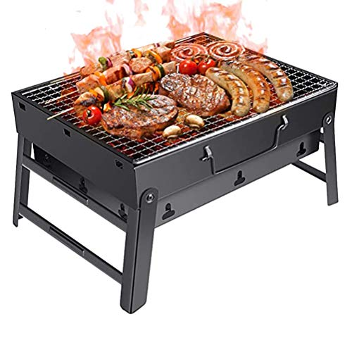 SISHUINIANHUA Faltbare beweglicher Barbecue Grill Terrasse Grill Holzkohlegrill Herd Aussen Camping Picknick Heim Barbecue Grill Zubehör