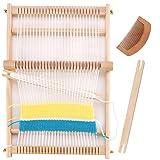Weaving Loom Kit, 15.2'H x 9.85'W Wooden Tapestry Looms, Warp Frame Loom Heddle Bar for Weave Board Weaver Tapestry Kids Beginner