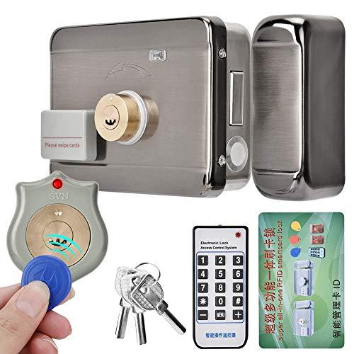 Cerraduras de puerta eléctricas, cerradura de puerta remota ID de control de acceso de puerta Cerradura de puerta de doble cabezal de 12V.
