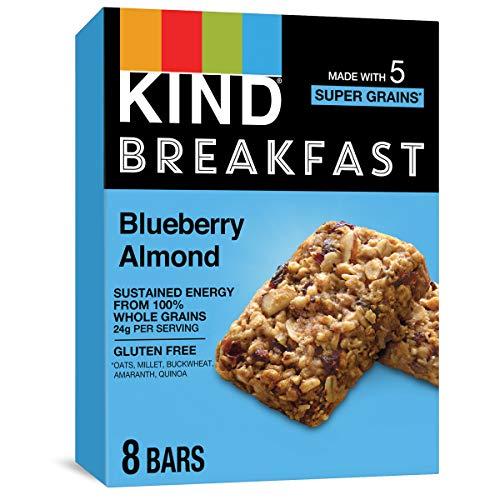 KIND Breakfast Bars, Gluten Free, Blueberry Almond, 1.8oz (Pack of 32)
