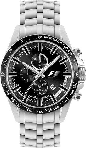 JACQUES LEMANS Formula 1 F-5007 Alarm-Chrono J - Reloj de Mujer de Cuarzo, Correa de Acero Inoxidable Color (Alarma)