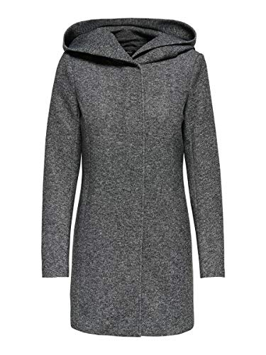 ONLY Female Mantel Klassischer SDark Grey Melange
