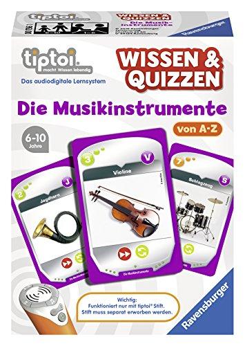 """Ravensburger tiptoi Wissen & Quizzen """"Die Musikinstrumente"""" - 00756 / Erfahrt allein oder gemeinsam spannende Informationen über Musikinstrumente"""