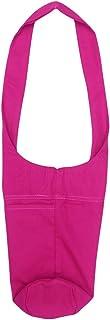 Portable Single Shoulder Travel Bag Training Large Capacity Yoga Mat Bag (Rosy)