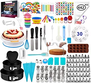 Adocfan DELUXE EDITION Cake Decorating Supplies Kit With Nonslip Turntable Stand - Baking Tools - Pastry DIY Accessories -...