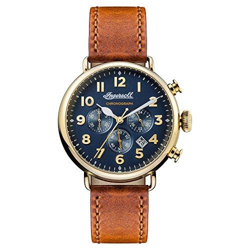 Ingersoll Herren Chronograph Quarz Uhr mit Leder Armband I03501