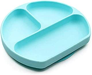 Suction Plate for Toddlers, Blue, Fits Most Highchair Trays, BPA Free, Divided Baby Feeding Bowls Dishes for Kids (Blue)