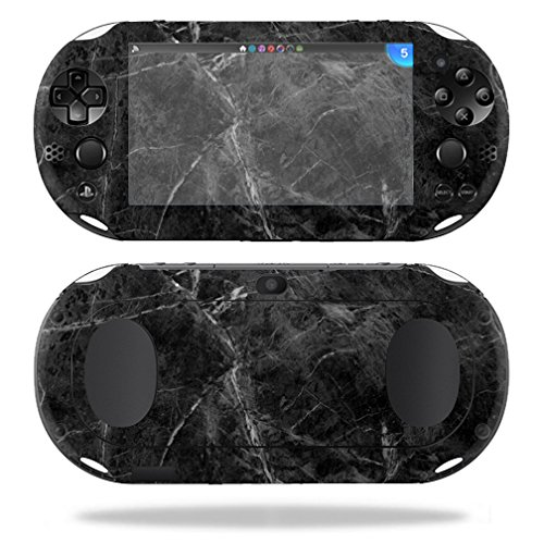 MightySkins Skin Compatible with Sony PS Vita (Wi-Fi 2nd Gen) wrap Cover Sticker Skins Black Marble