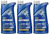 MANNOL Defender 10W40 - Olio motore semi sintetico A3/B4, 3 litri