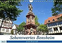 Sehenswertes Bensheim an der Bergstrasse (Wandkalender 2022 DIN A4 quer): Die mittelgrosse Stadt Bensheim besticht mit ihrer schoenen historischen Innenstadt, der umgebenden Natur zum Erholen und dem Weinanbau mit all seinen Genussfreuden. (Monatskalender, 14 Seiten )
