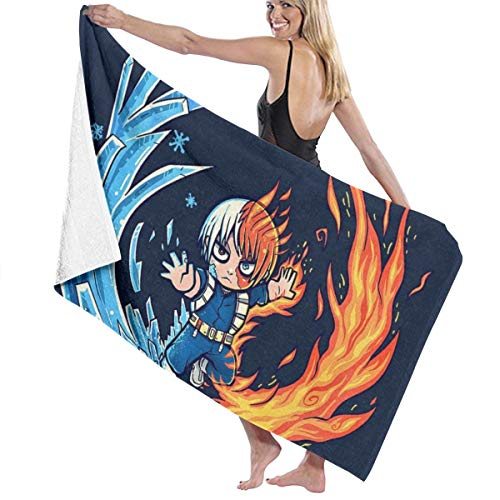 C-JOY Best Hot and Cold Boy My Hero Academia Bath Towel Five-Star Hotel Quality .Premium Collection Bathroom Towel.Soft,Plush and Highly Absorbent (1 Bath Towel 31x59 Inches)