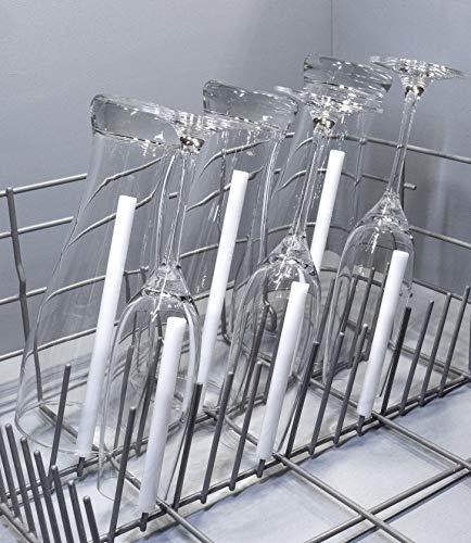 spiked-glasses Glashalter für Spülmaschine - Alleskönner 6er Set - Universelle Aufsteckhalter Halterung für Geschirrkorb Glas Gläser - formstabil und kratzfrei