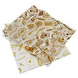 PsmGoods® 100 PCS Wachs Papier für Kuchen Brot