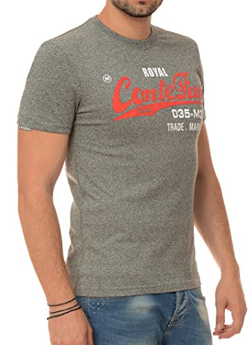 M.Conte heren fitness T-shirt korte mouwen sweater ronde hals blauw grijs zwart bruin M L XL XXL Romero