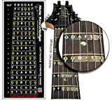 Left Hand Learn Guitar Fretboard Note Map Decals/Stickers