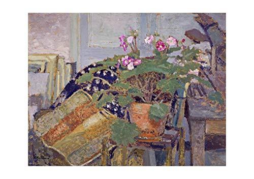 Spiffing Prints Edouard Vuillard - Le Pot De Fleurs Pot of Flowers - Large - Archival Matte - Framed