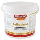 MEGAMAX Aufbaukost Vanille 3 kg- Ideal zur Kräftigung und bei Untergewicht. Proteinpulver zur...