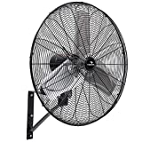 Tornado - 24 Inch High Velocity Indoor Oscillating Wall Mount Fan - 3 Speed with 7500 CFM - UL Safety Listed