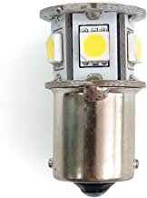 RV LIGHTING Eco-LED Cold White 67 Porch Light LED Bulb, with 7 SMD 5050 & Bayonet BA15S (1156) Connector (67-W7)
