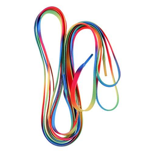 Sharplace Schnürsenkel, reißfeste Schuhbänder 1 Paar für Rollschuhe, Stiefel - Regenbogen
