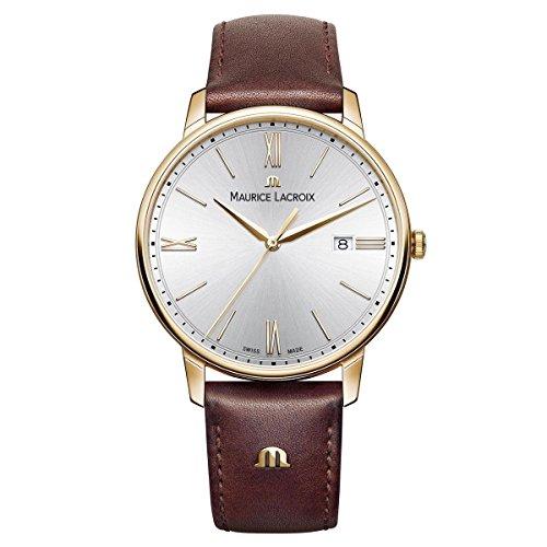 Maurice Lacroix Herren Analog Quarz Uhr mit Leder Armband EL1118-PVP01-111-1