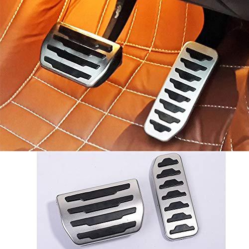 Copertura del pedale del freno del gas del combustibile dell'automobile della lega di alluminio 2Pcs per Discovery Sport 2015-2019, per Rangerover Evoque 2012-2019, per XE F-Pace X761Car Accessori