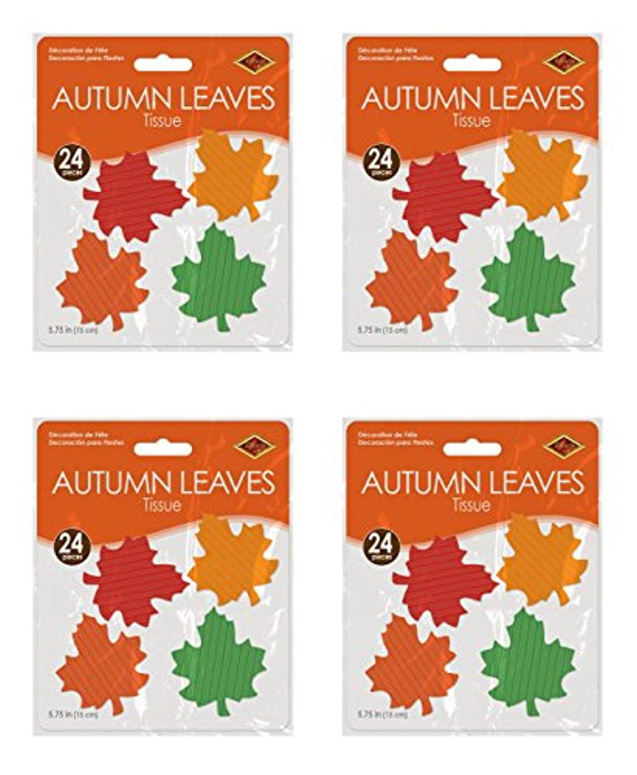 Beistle S99814AZ4 Tissue Autumn Leaves 5.75