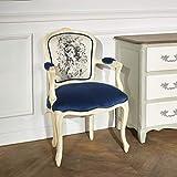 Robin des bois - Fauteuil Cabriolet, Louvre Tissus Bleuet