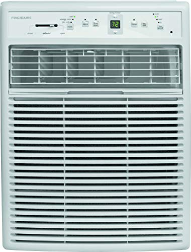 Frigidaire FFRS0822S1 8000 BTU Heavy-Duty Slider Casement, Electronic, Remote Control Window Air Conditioner, 8,000, White