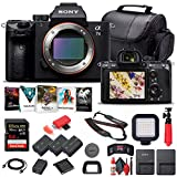 Sony Alpha a7 III Mirrorless Digital Camera (Body Only) (ILCE7M3/B) + 64GB Memory Card + 2 x NP-FZ-100 Battery + Corel Photo Software + Case + Card Reader + LED Light + More (Renewed)