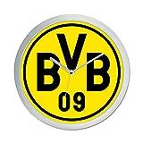 Borussia Dortmund BVB 09 Wanduhr (schwarz/gelb, one Size)