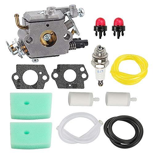 Hayskill C1Q-EL24 Carburetor w Air Filter Tune Up Kit for Husqvarna 123C 223L 322C 323R 123L 123LD 223R 322R 323C 323L 325C 325CX 325L 325LX 326C 326L String Trimmer Carb