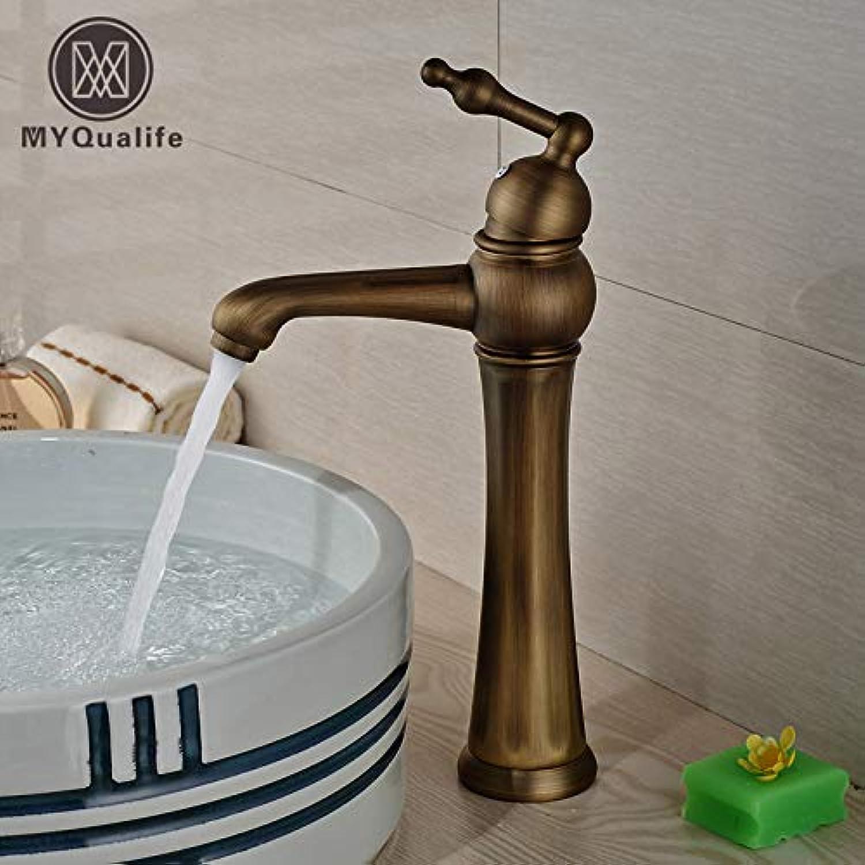 U-Enjoy Kronleuchter Messing Ein Antique Loch Griff Sink Top-Qualitt Tap Basin Deck-Einfassung Mit Kaltem Wasser Badezimmer Hot Mischbatterien Kostenloser Versand