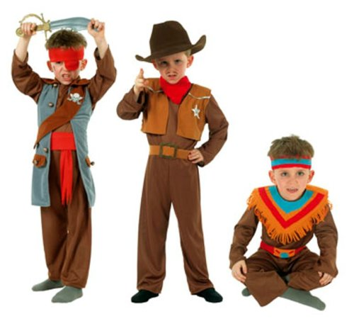 Cesar - Q728-001 - Costumes - 3 en 1 Garçon Cow Boy / Indien / Pirate Cintre - 5/7 ans