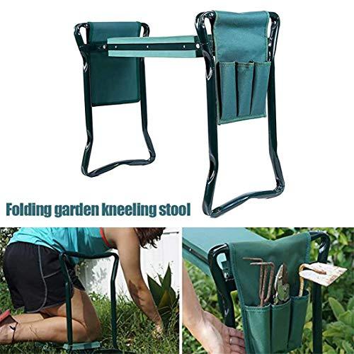 GJNWRQCY Jardin Kneeler Seat Tabouret Multi-Usage Heavy Duty Pliant Bench with Tool Pocket Soft EVA Kneeling Pad for Gardening