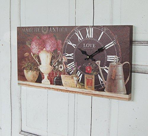 windschief-living Wanduhr Noir, Antique Uhr im Shabby chic Landhausstil