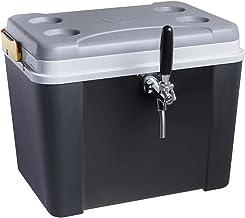 Chopeira a gelo caixa 34l para barril heineken 5l - preta com torneira italiana