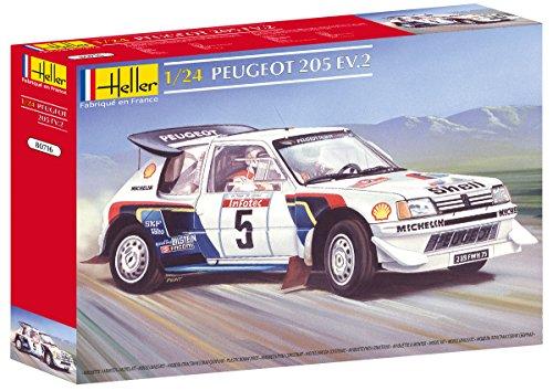 Heller 80716 - Modellino da Costruire, Auto Peugeot 205 Ev 2, Scala 1:24 [Importato da Francia]