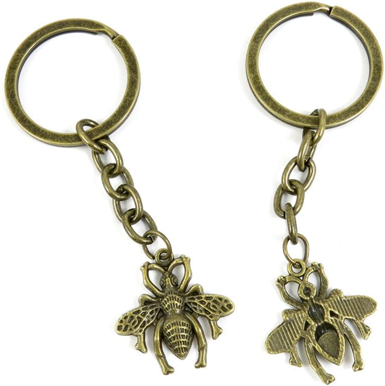 190 Pieces Fashion Jewelry Keyring Keychain Door Car Key Tag Ring Chain Supplier Supply Wholesale Bulk Lots A1XX2 Bee