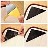 GBEX The Amazing Reusable Rug Grippers RUGGIES Carpet Mat Non Slip Grip Corners Magic Pad Anti Skid for Rug Washable Silicone Grip Mat 4pcs/Set