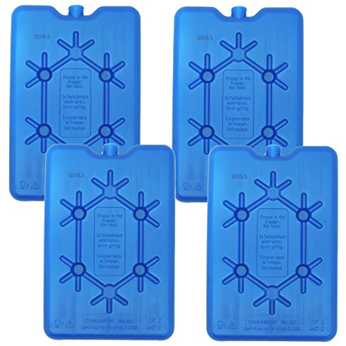 NEMT 4X Flacher Kühlakku 200 ml Kühlakkus 11 x 16,5 x 1,5 cm Kühlelemente Kühltasche Kühlbox