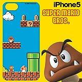 スーパーマリオブラザーズ iPhone5 専用 DECORE WEAR for iPhone5 ハードカバー スーパーマリオブラザーズ01 マリオ5H