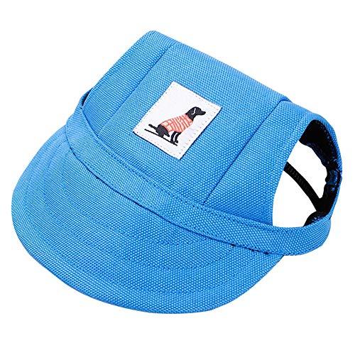 Topdo 1 pcs Chapeau de Chien Casquettes visières Toile Oxford Chapeau Mignon (Bleu) 28-41CM
