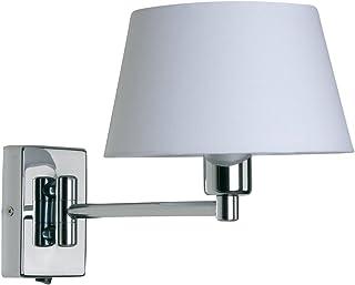 Armada - Lámpara de pared con brazo articulado (sin pantalla), cromado brillante
