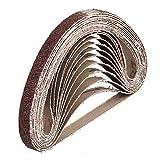 Gewebe-Schleifbänder │ 12 Stück │ 10 x 330 mm │ je 2 x Korn 40/60/80/120/180/240 │ kompatibel mit Bandfeilen │ Schleifpapier │ Schleifband-Mixpack