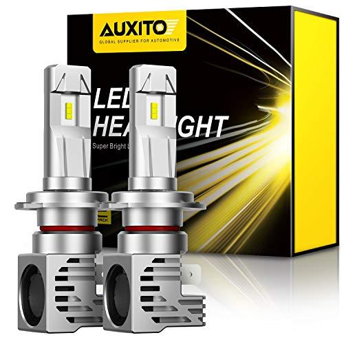 AUXITO H7 LED Headlight Bulbs, 12000LM Per Set, 6500K Xenon White, Mini Size Wireless Headlight, Pack of 2