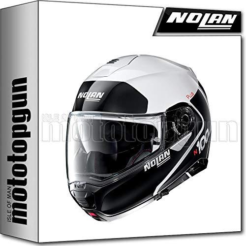 NOLAN CASCO MOTO MODULARE N100-5 PLUS DISTINCTIVE METAL BIANCO 022 TG. M