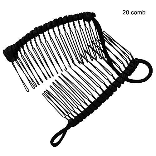 MZY1188 Vintage breites Haar Zahn Seite Kamm- Bananen-Haarspange,Dehnbarer Brauthaarkamm , Mehrzweckkamm für Friseursalons